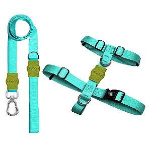 Kit Guia Premium + Peitoral H Classic Aquamarine