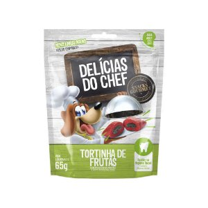 Petisco Snack Delicias do Chef Tortinha de Frutas 65G