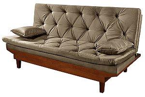 Sofa Cama Reclinável Caribe 3 Posições Essencial Estofados