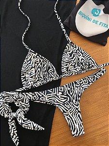 Cortininha móvel + calcinha fio normal Zebra