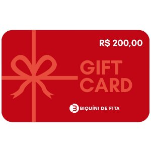 Gift Card R$ 200,00