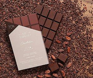 Barra chocolate amargo 70 %  zero açúcar