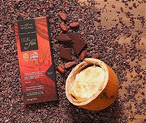 Tablete chocolate cacau em flor 63 % com crocante de cupuaçu