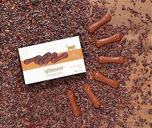 Katzenzungen chocolate ao leite 45 %