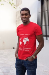 Camiseta Masculina Ide Pelo Mundo