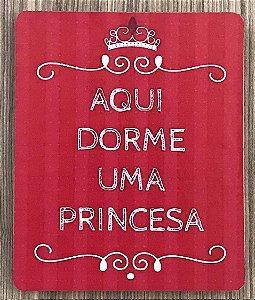 Quadro Decorativo Aqui Dorme uma Princesa