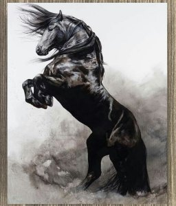 Quadro Decorativo Cavalo Empinando
