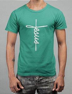 Camiseta Turquesa Jesus