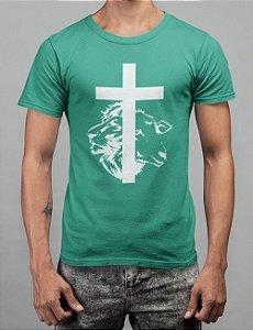 Camiseta Turquesa Cordeiro e Leão
