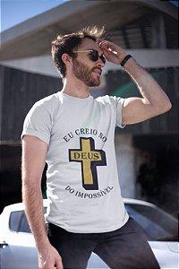 Camiseta Branca Deus do Impossivel