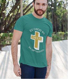 Camiseta Turquesa Deus do Impossível