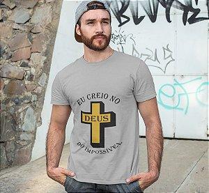 Camiseta Cinza Deus do Impossível