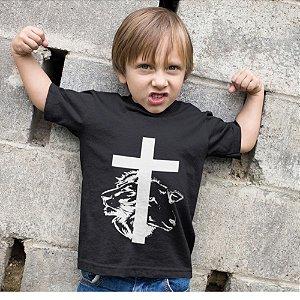 Camisa Infantil Preta Cordeiro e Leão