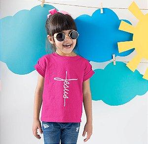 Camisa Infantil Rosa Pink Jesus