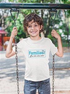 Camisa Infantil Branca Família