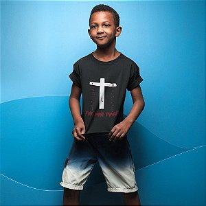 Camisa Infantil Preta Foi Por Você