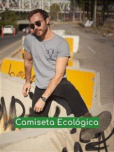 Camiseta Ecológica Cinza Save Elephant - UNISSEX