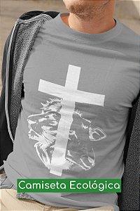 Camiseta Ecológica Cinza Cordeiro e Leão - UNISSEX