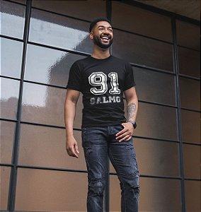 Camiseta Preta Salmos 91