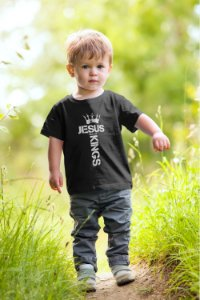 Camiseta Infantil Preta King of Kings