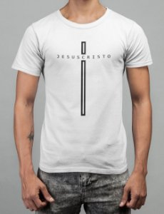 Camiseta Branca Jesus Cristo