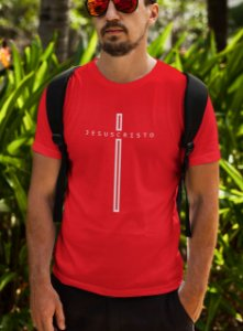 Camiseta Vermelha Jesus Cristo