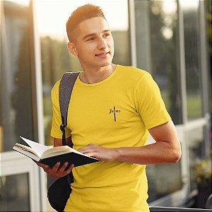 Camiseta Amarela Jesus Cruz - Peito
