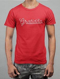 Camiseta Vermelha Gratidão