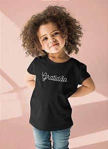 Camiseta Infantil Preta Gratidão