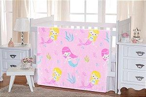 Cobertor Sereia Flannel Kids - TOQUE EXTRA MACIO - 1,10m x 1,50m - Etruria - Ref.:1954