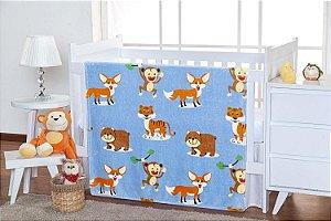 Cobertor Floresta Flannel Kids - TOQUE EXTRA MACIO - 1,10m x 1,50m - Etruria - Ref.:1954