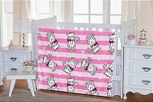 Cobertor Gatinha Flannel Kids - TOQUE EXTRA MACIO - 1,10m x 1,50m - Etruria - Ref.:1954