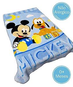 Cobertor Infantil Raschel Plus Disney - Mickey e Pluto - 90 cm x 1,10 m - Ref.: 62005