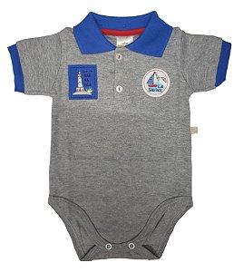 Body Polo Cinza Tema Porto - Best Club Baby (Ref. 22000004)