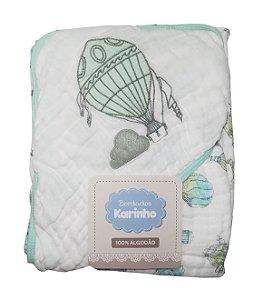 Toalha de Banho Soft Verde c/ Capuz - Karinho - Ref.: 2003