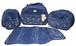 Kit bolsa com 4 peças - 2 bolsas, frasqueira e trocador - Baby - Ref.: 1055