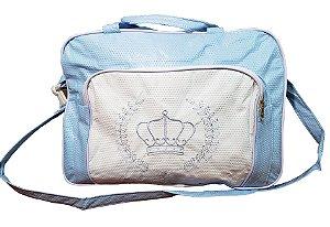 Bolsa com 2 compartimento, Azul Claro, Coroa - Mave Baby - Ref.: 135