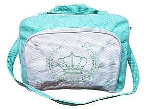 Bolsa com 2 compartimentos, Verde Claro, Coroa - Mave Baby - Ref.: 135