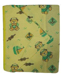 Toalha de Banho c/ Capuz Amarelo - Estampas Variadas - 70 cm x 80 cm - Carícia - Ref.: 1102