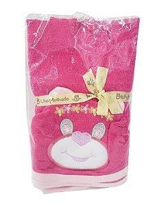 Ursinha - Toalha de Banho c/ Capuz - Forro 100% algodão - Bicho Molhado - REF.: 7031