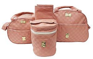 Bolsa maternidade 4 peças térmica Rosê - Mave Baby - Ref.: 105354