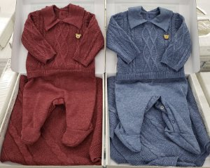 Saída maternidade em tricot - 02 peças - 100% algodão - Ref.:421006