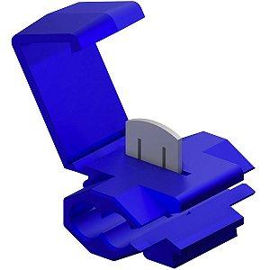 Conector de Derivação Tigre Azul 0,75 a 1,5mm 600V Pacote com 10 unidades