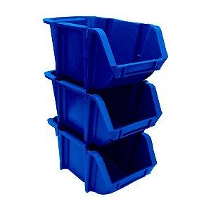 Gaveta Organizadora Braslider Nº3 Azul 8x10x17cm Kit com 60 Unidades