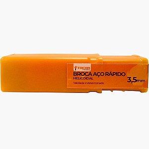 Broca de Aço Rápido Tocha 3,5mm 10 unidades