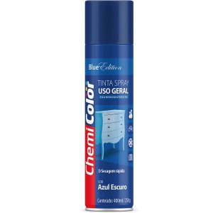 Tinta Spray Chemicolor Uso Geral Azul Escuro 400ml 135