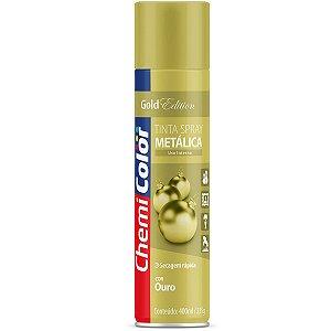 Tinta Spray Chemicolor Metálica Ouro 400ml 105