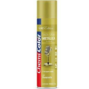 Tinta Spray Chemicolor Metálica Dourado 400ml 199