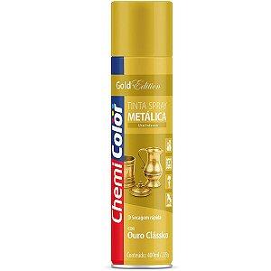 Tinta Spray Chemicolor Metálica Ouro Clássico 400ml 187