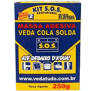 Kit SOS Massa Adesiva Secagem Rápida Vedatudo 250g 06 Unidades